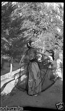 Portrait femme robe de soirée voile - négatif ancien an. 1940 50