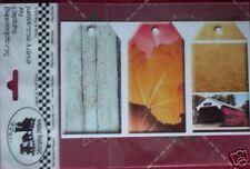FALL AUTUMN NEW HAMPSHIRE COVERED BRIDGE SCRAPBOOK PRINTED TAGS