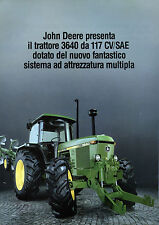 """PUBBLICITA' WERBUNG """" JOHN DEERE presenta il trattore 3640 da 117 CV/SAE """""""