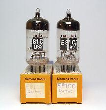 Pair of Original Nos Siemens E81Cc / 12 At7Wc Tubes, Munich Made, Nos