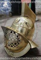 18GA Medieval SCA LARP Fabri Armour Murmillo Gladiator Helmet Reenactment