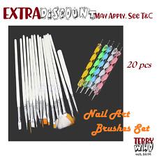 Nail Art Design Brushes Set 20pcs  Dotting Painting Drawing Polish Pen