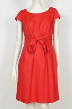 Hobbs Summer Red Linen Flax Dress Size 10
