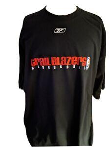 NBA Portland TrailBlazers Original Classic S/S T-Shirt Reebok Black Size 2XL