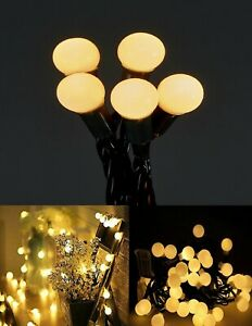 Christmas Berry Fairy String 100 LED Battery Operated Timer Lights Warm White UK