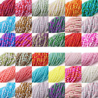 Lots 50/100Pcs Round Czech Glass Glossy Loose Spacer Beads Jewelry Finding 4/6mm