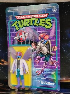 """Super 7 TMNT Baxter Stockman  3.75"""" ReAction Figure. Nice Brand New Package 2020"""
