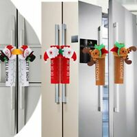 Christmas Fridge Handle Cover Santa Claus Door Xmas Christmas Party Decoration