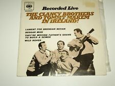 "CLANCY BROTHERS & TOMMY MAKEM  *RARE OZ  7"" E.P. ' RECORDED LIVE ' 1965 VGC"