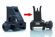 Black Metal High Profile Quick Detachable Front Iron Sight Picatinny/Weaver Rail