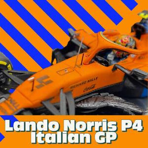 Minichamps 537205104 1/43 2020 McLaren MCL35 Lando Norris P4 Italian GP F1 Model
