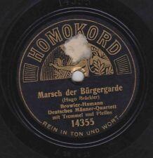 Browier-Hamann on 78 rpm Homokord 14354: Marsch der Bürgergarde/kleine Rekrut V
