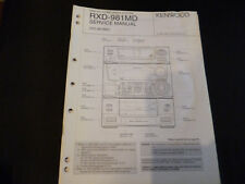 Original Service Manual Kenwood   RXD-981MD