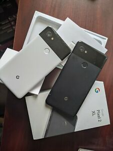 Lot Google Pixel 2 128GB - Clearly White & Black Unlocked Smartphones with a Box