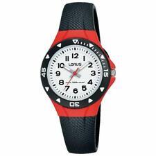 Lorus Bambini Sport Orologio con Cinturino Nero & rosso e quadrante bianco R2357MX9