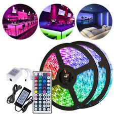 RGB LED Streifen Partylicht Leiste Lichterkette 5050 SMD Leuchte Stripe 1m-30m