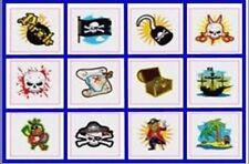 24 Temporary Pirate tatoos pack of 12 diferrent individual tatoos Boys Girls