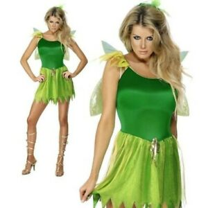 Woodland Fairy Costume Adult Pixie Forest Nymph Ladies Womens Fancy Dress New