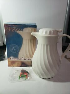 Vintage Connoisserve White Coffee Carafe Insulated 20oz Decanter Pitcher