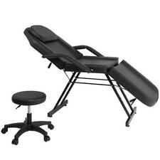 Portable Massage Table Chair Tattoo Parlor Spa Salon Facial Beauty Bed Black Us