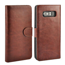 Removable Wallet Leather Magnetic Flip Case Cover Samsung Galaxy Note 8 S9 Plus