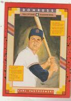 FREE SHIPPING-MINT-1990 Donruss Carl Yastrzemski Boston Red Sox #588 +BONUS CRDS