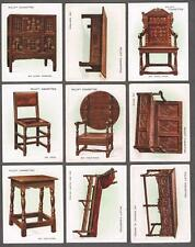 1924 Wills's Cigarettes Old Furniture 2nd Series Large Tobacco Card Complete Set