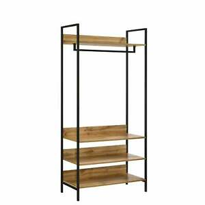 Open Wardrobe with 4 Shelves