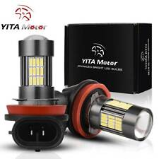 YITAMOTOR H8 H11 High Power 2323 120W LED Fog Light Bulbs Driving DRL Lights 2pc