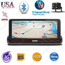 """New 7"""" Dual Lens Camera HD 1080P Car DVR GPS Navi Dash Cam Bluetooth 3G+Wifi 16G"""