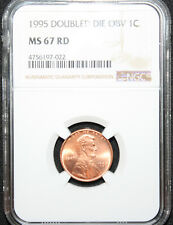 1995 1C Double Die Obverse Lincoln Cent NGC MS 67 ~ RADIANT RED!