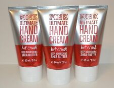 3 VICTORIA'S SECRET PINK HOT CRUSH ULTIMATE HAND CREAM LOTION TRAVEL SIZE SHEA