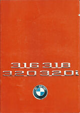 BMW 316 318 320 320i UK Brochure 1976 30 Pages In Good Condition 6 11 02 01 20