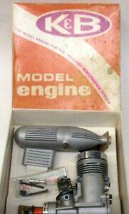 K&B #6550 .61 R/C w/KB CARB & MUFFLER gas motor MINT in Box gm