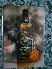 BRAND NEW Jack Daniel's Bursting Bottle Metal Sign -UK Seller - Free p&p