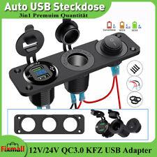12V/24V Auto Dual USB Steckdose QC3.0 Ladegerät Zigarettenanzünder 250W Adapter
