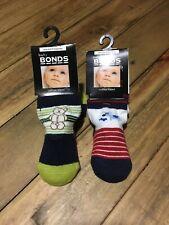 BONDS Baby Boy Socks Newborn Cotton Blend 2 Pairs
