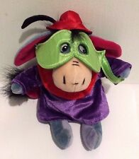 "Disney Store Bean Bag Plush EEYORE Masquerade Mask Costume RARE 8"" EUC"