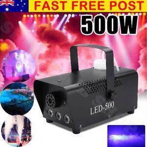 500W Smoke Fog Machine RGB LED Stage Light Party Club Disco DJ Fogger w Remote