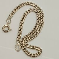 "Solid Sterling Silver 925 bracelet chain 7""  design jewellery curb chain P56."
