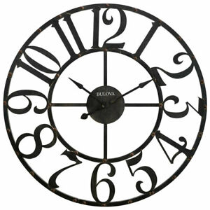 Bulova Clocks C4821 Gabriel 45 Inch Oversized Gallery Rustic Analog Wall Clock