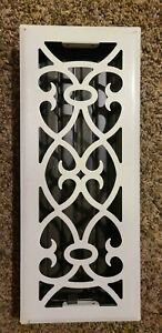 Registers Unique  For The Finishing Touch Vintage White Floor Vent  Model  0679