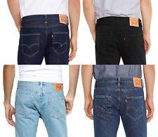 LEVIS Mens 501 Denim Jeans Lightwash Stonewash Black Indigo Onewash Red Tab Levi