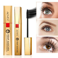 NEW HEMP MASCARA Silk Fiber Eyelash Lash BLACK Mascara Waterproof Volume Makeup