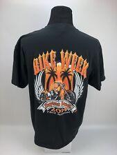 Daytona Beach Bike Week 2014 Mens Black T-Shirt Size XL 73rd Annual Custom Bike