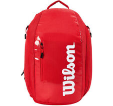 Wilson Super Tour Backpack Tennis Red Badminton Squash CCT+ NWT WRZ-840896 34ba2d551e1fa