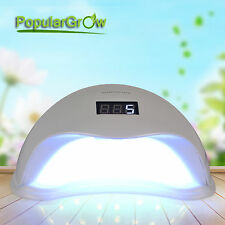 PopularGrow Double Light Source 48W LED Nail Lamp 365nm&405nm for All Gel Polish