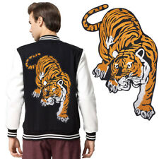 Jacket Jeans Big Tiger Embroidered Applique Sew Iron on Cloth Patch Badge Decor