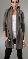 Vince Hooded Sweater Coat Size S Open Cardigan Cashmere Wool Alpaca Soft Warm