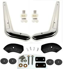 New! 1964-1966 Mustang Seat Side Trim Moldings Pair w/ Hardware Covers Washers